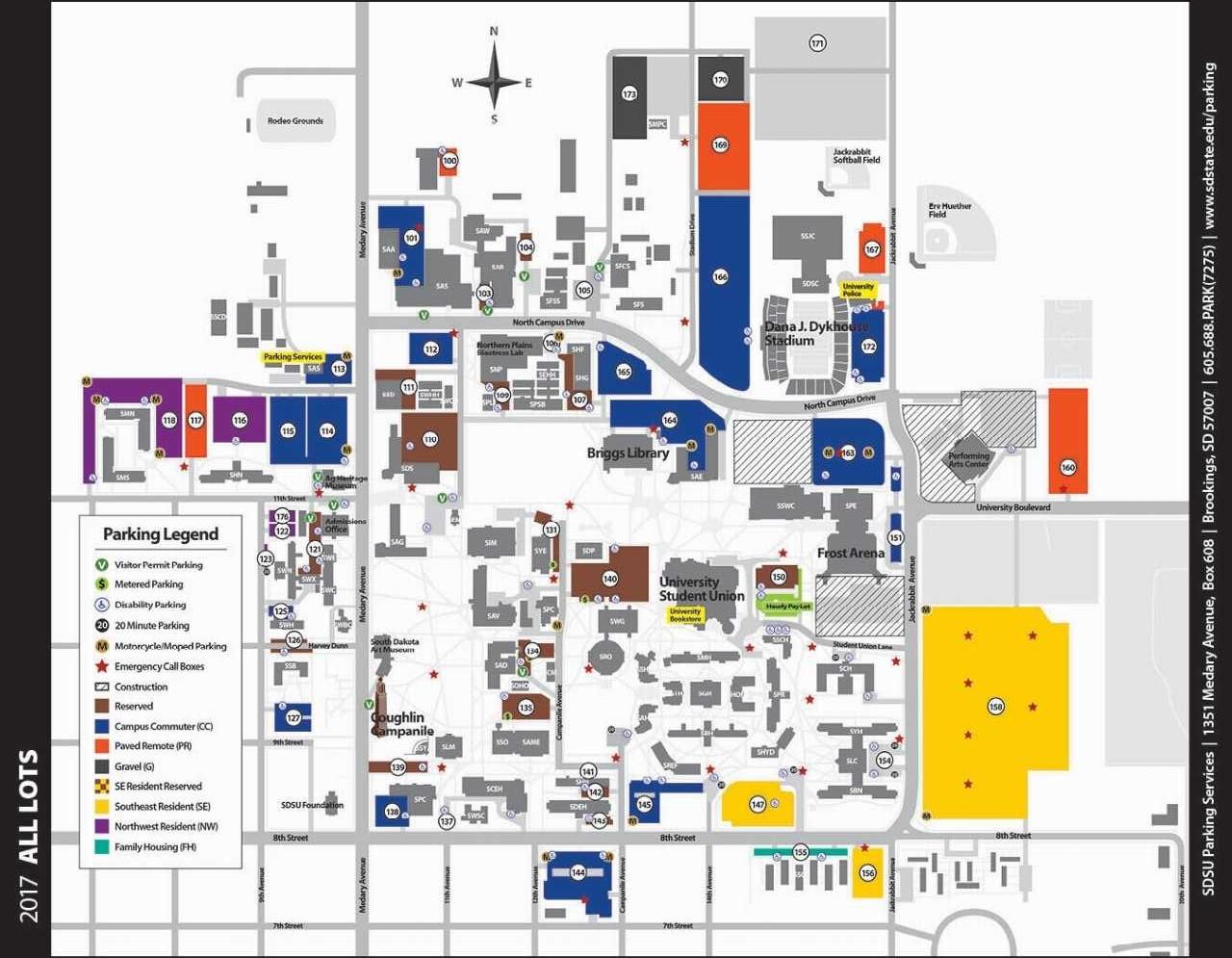 College campus parking lot 9