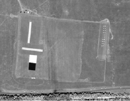 Figure 4b, photo of satellite image of targets