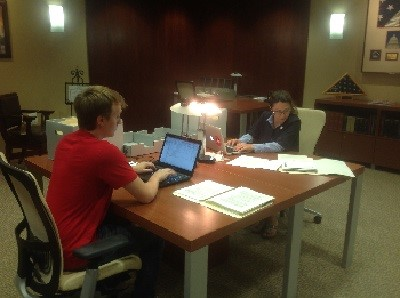 Wiltse and Mitchell Hard at Work in the Daschle Research Center