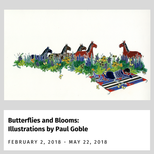 Butterflies and Blooms: Illustrations by Paul Goble Exhibit from February 2, 2018 to May 21, 2018