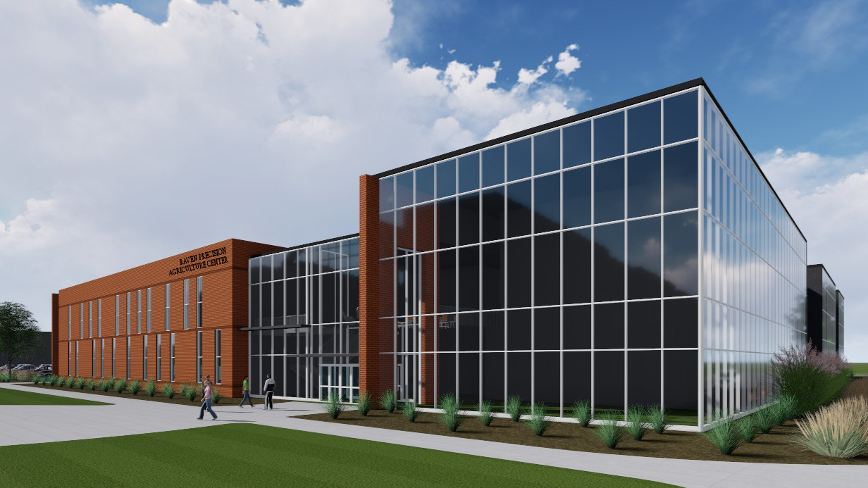 Future Raven Precision Agriculture Center building rendering