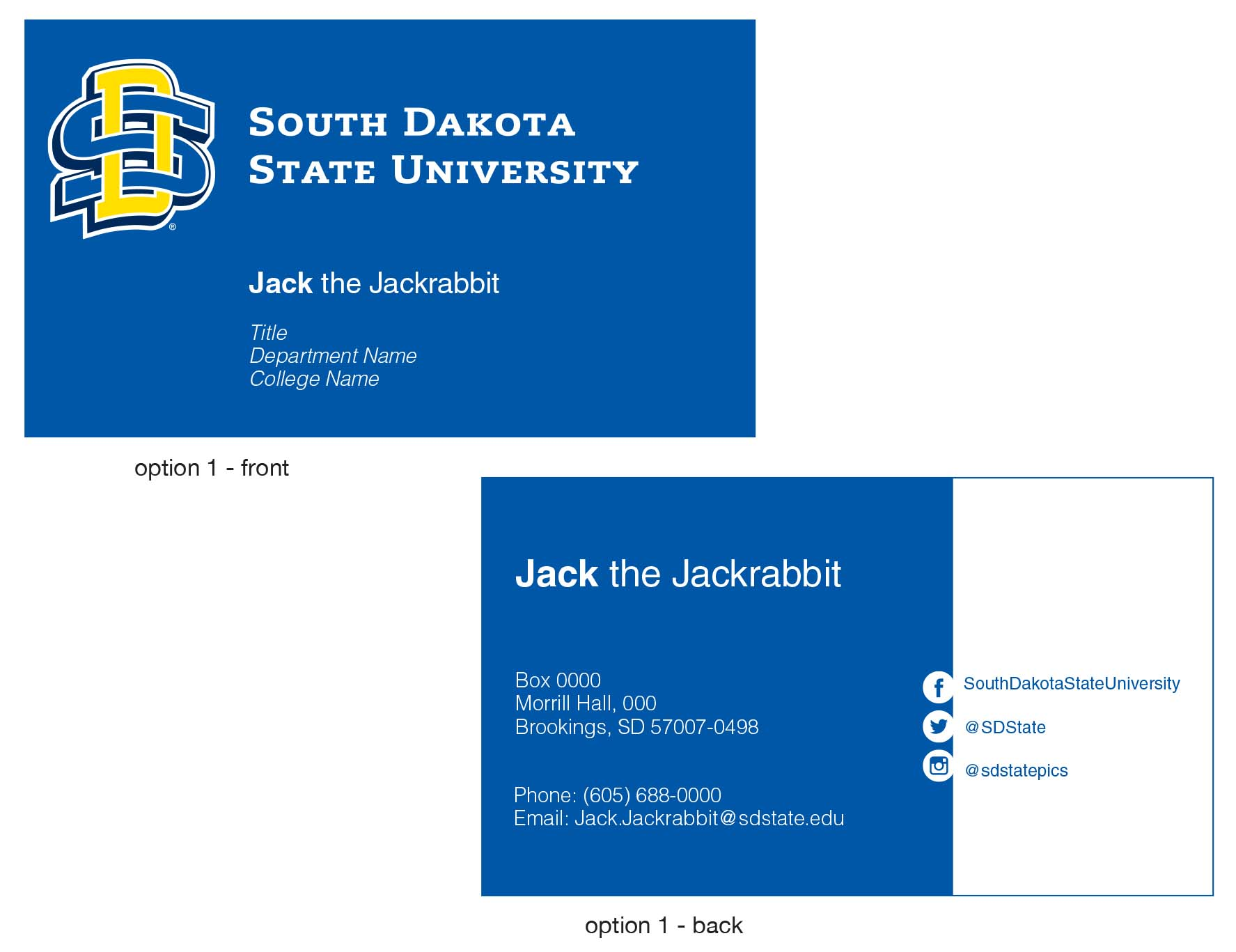 Official Business Cards | South Dakota State University
