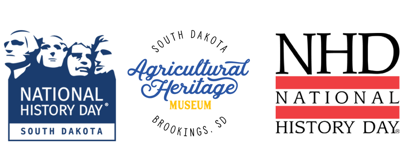 NHD in SD Logo, South Dakota Agriculutural heritage Museum Logo, NHD Logo