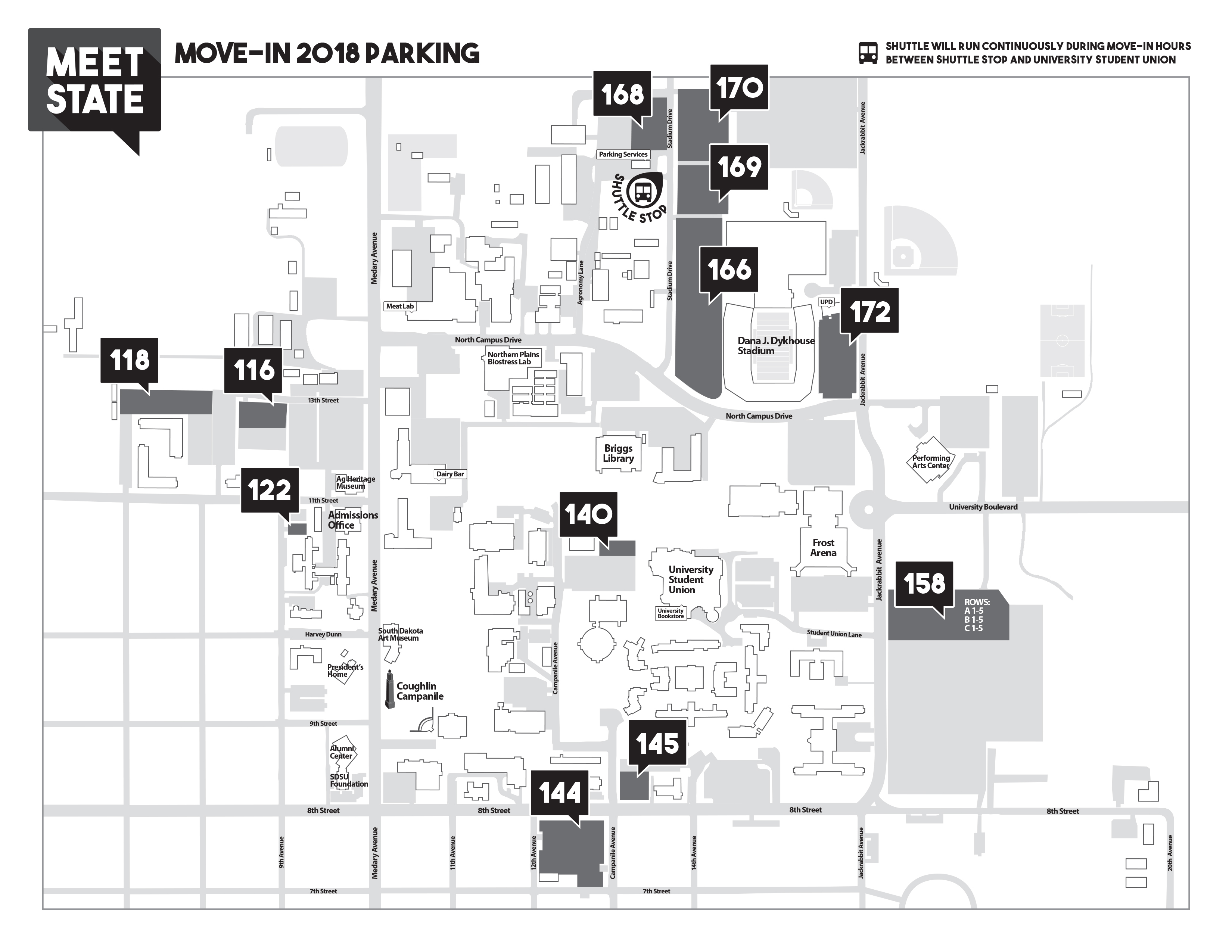 Move-In Day Parking Map