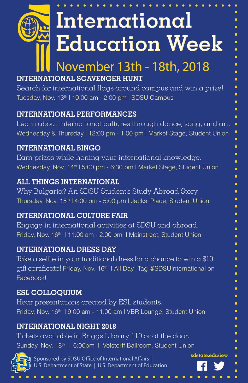 International Education Week South Dakota State University