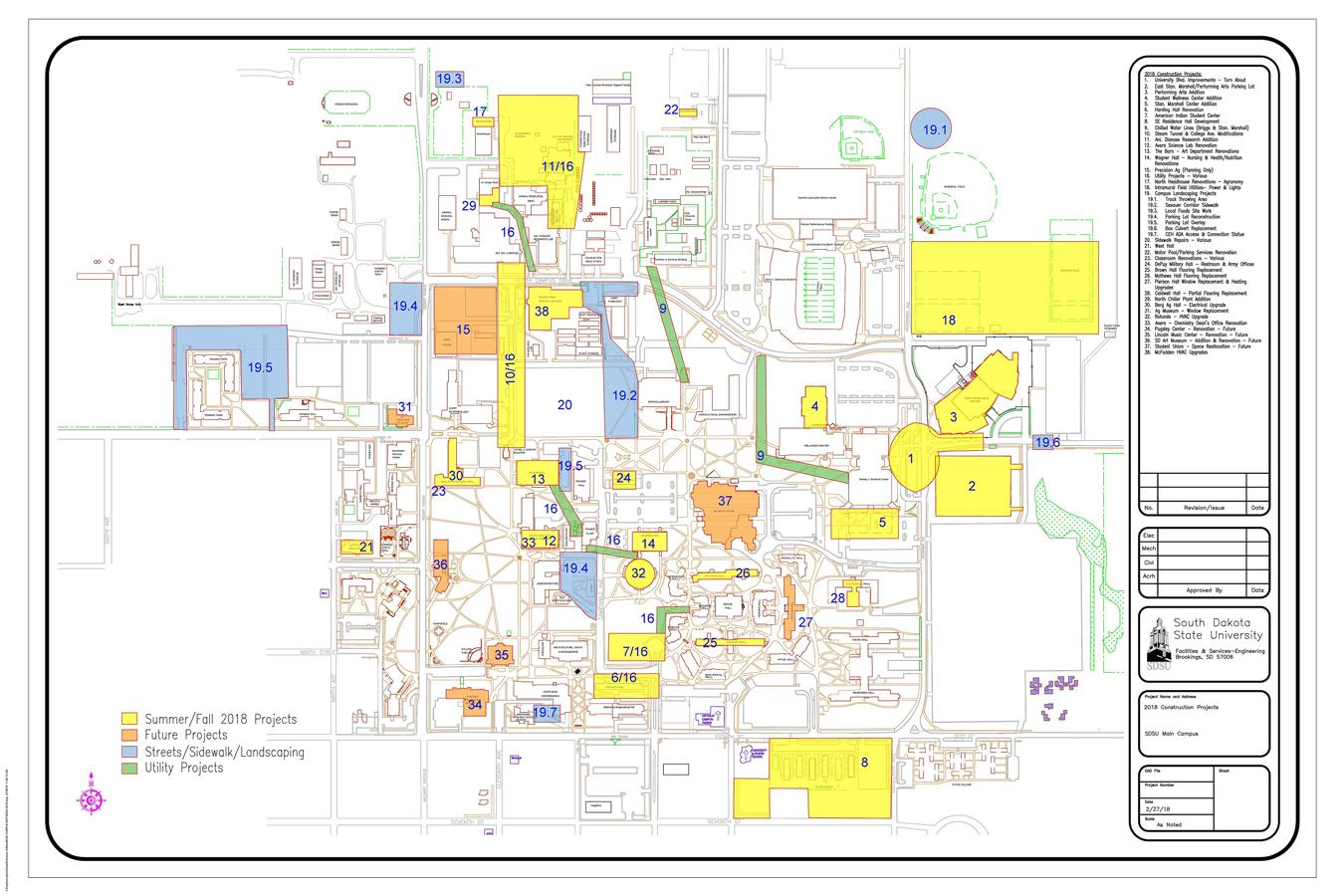 Picture of: Project Map South Dakota State University