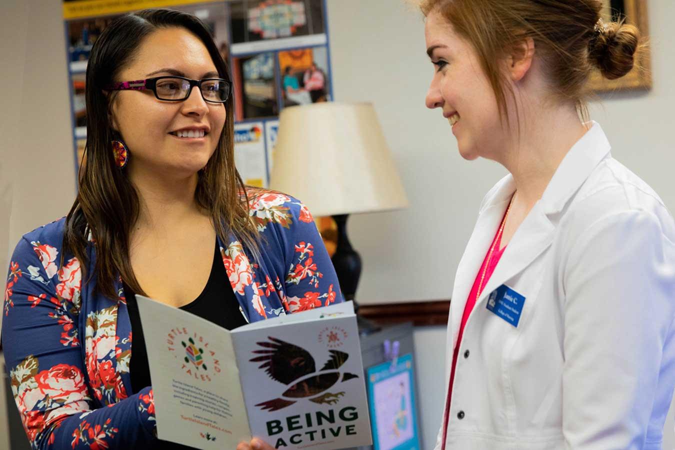 Val and a student at NANEC
