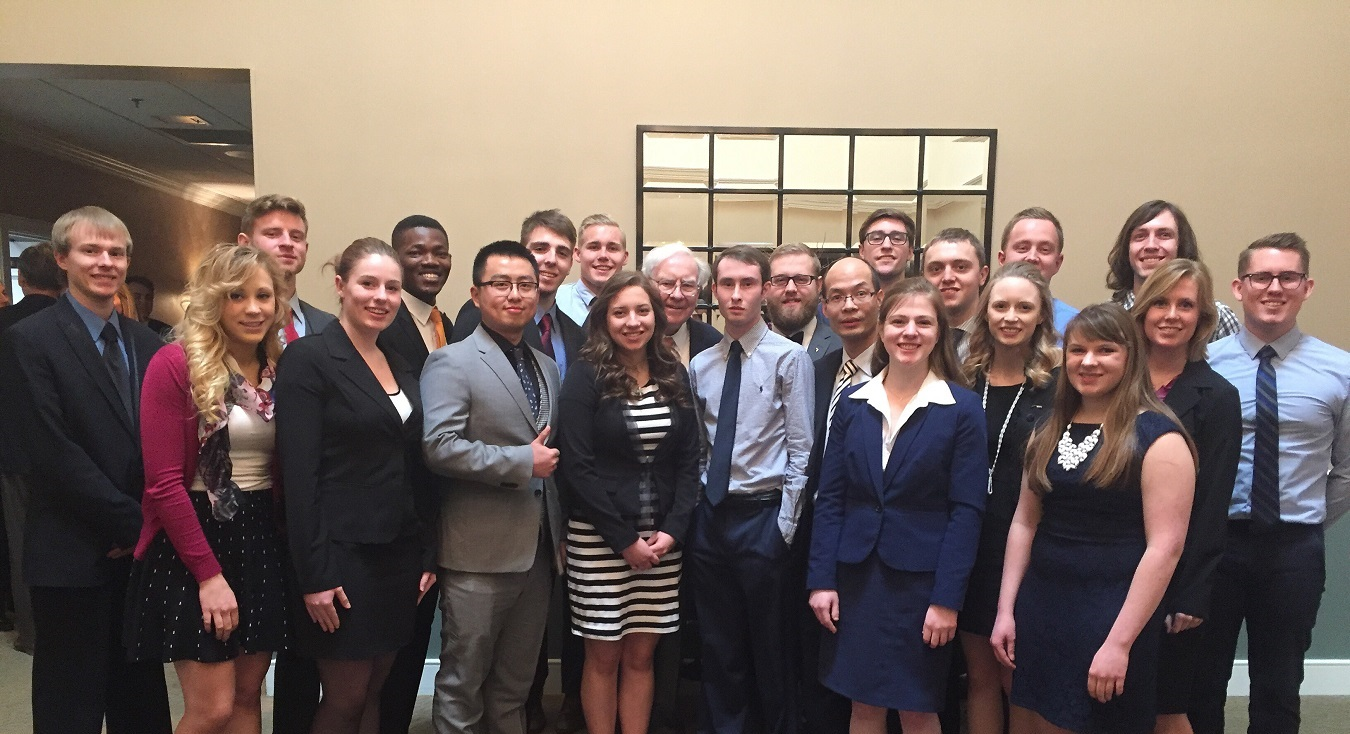 Economics Students with Warren Buffet