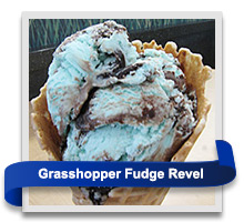 Strawberry Revel, Mint Cookies 'n Cream and Grasshopper Fudge Revel ice cream