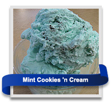 Mint Cookies-n-Cream ice cream