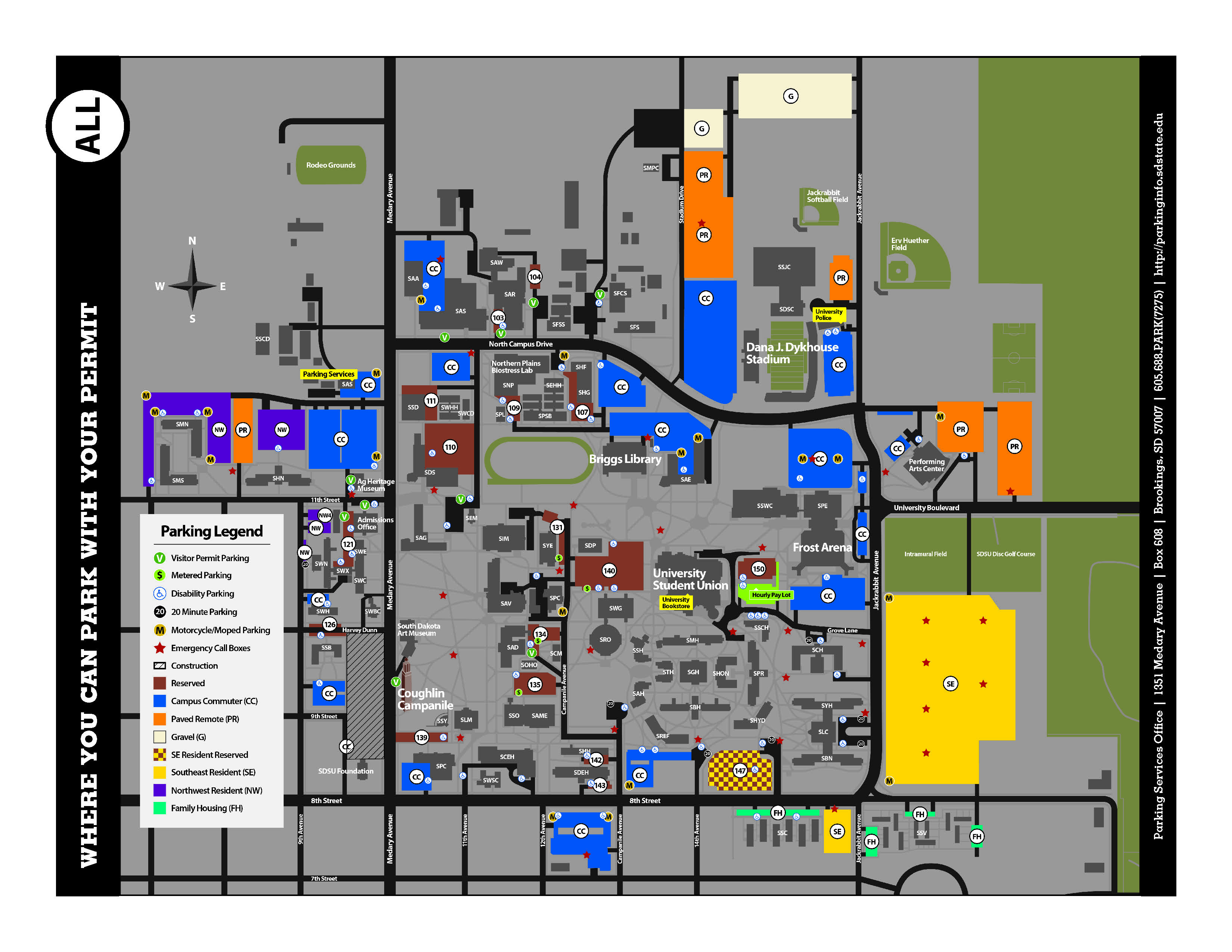 Parking Maps  South Dakota State University
