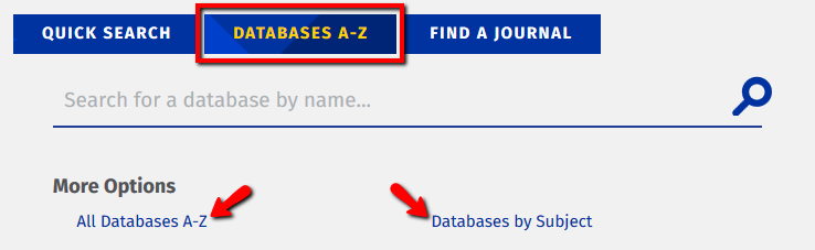 Quick Search of Briggs Library's Databases