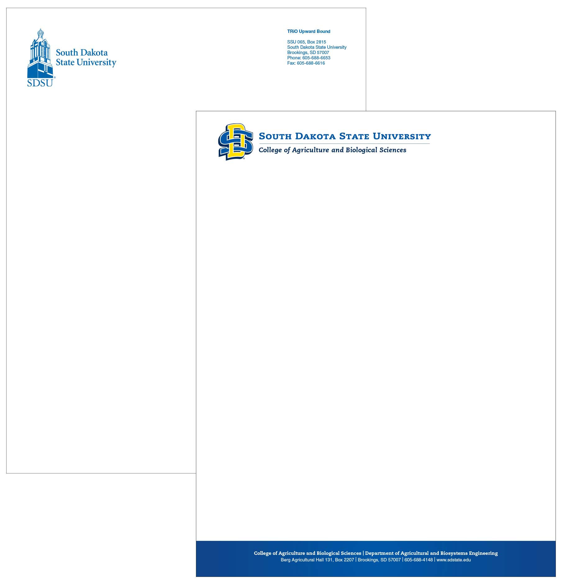 Letterhead Envelopes: South Dakota State University