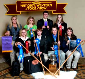 South Dakota Wool Judging team