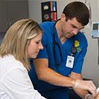 nurse administrator with a nurse