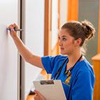 nursing student in class