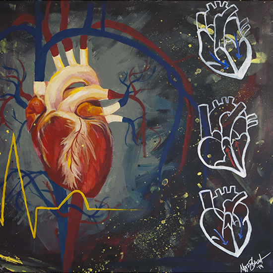Painting of a human heart