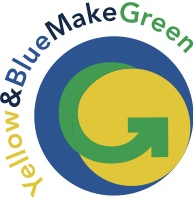 Yellow and Blue make Green logo