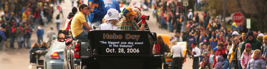 A float in the Hobo Day Parade.