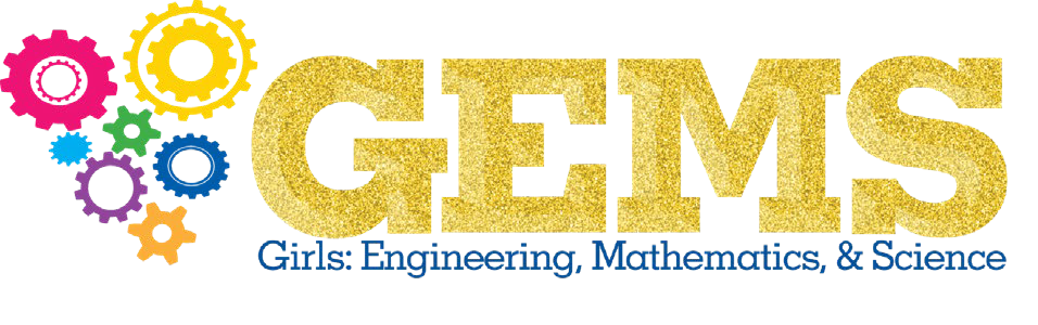 GEMS (Girls: Engineering, Mathematics, & Science logo