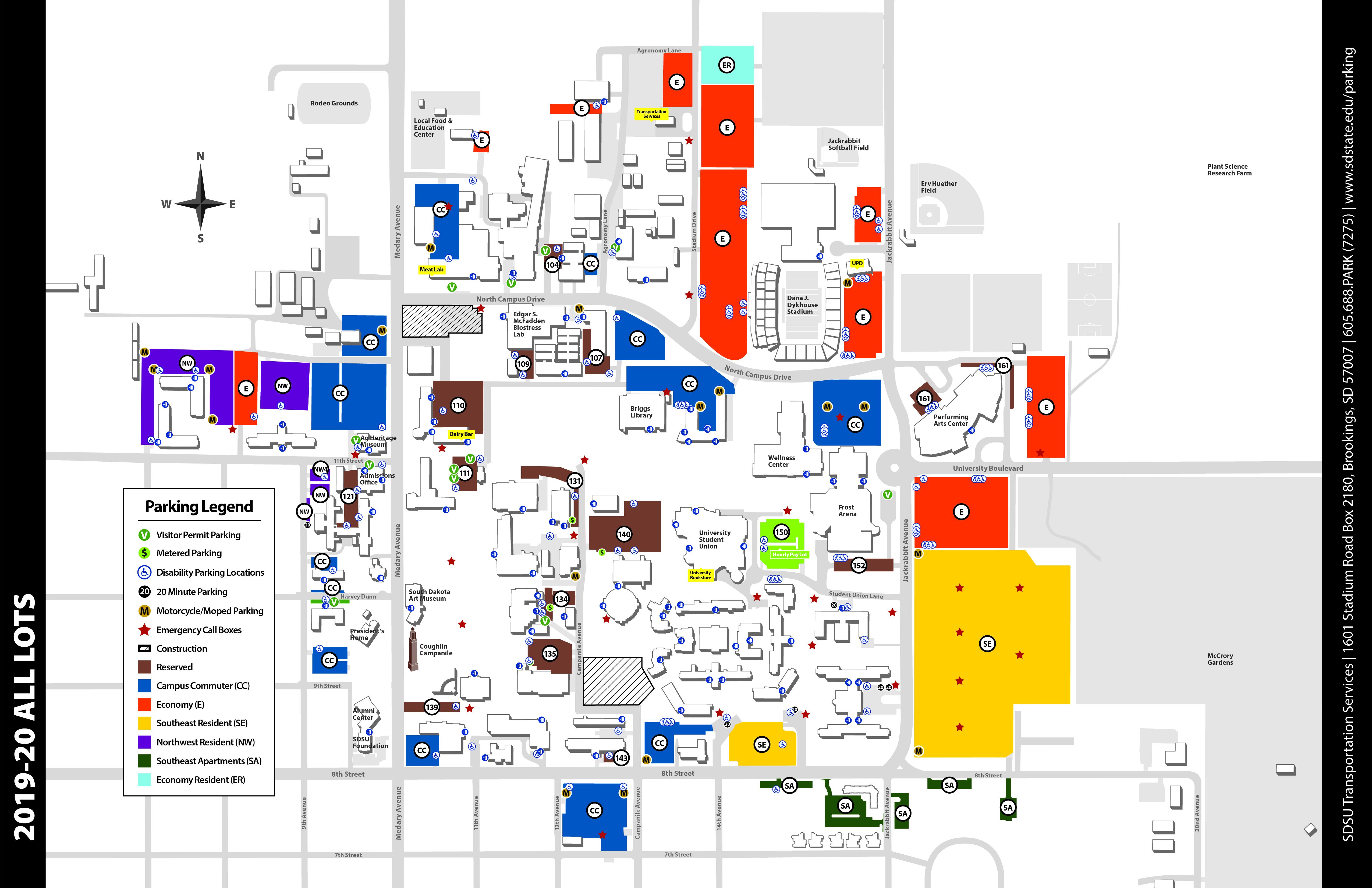 Parking Maps | South Dakota State University