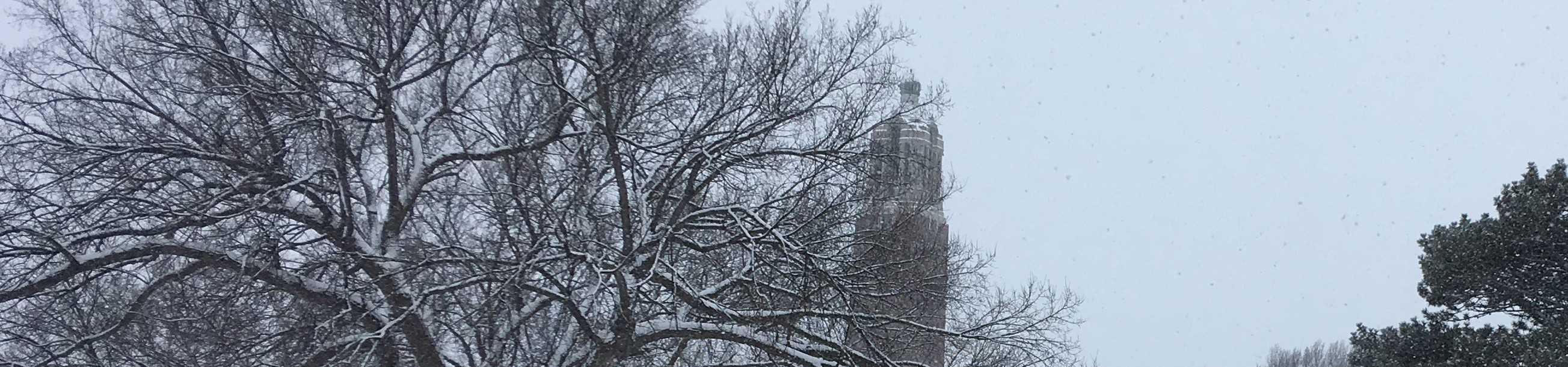 Winter shot of the campanile