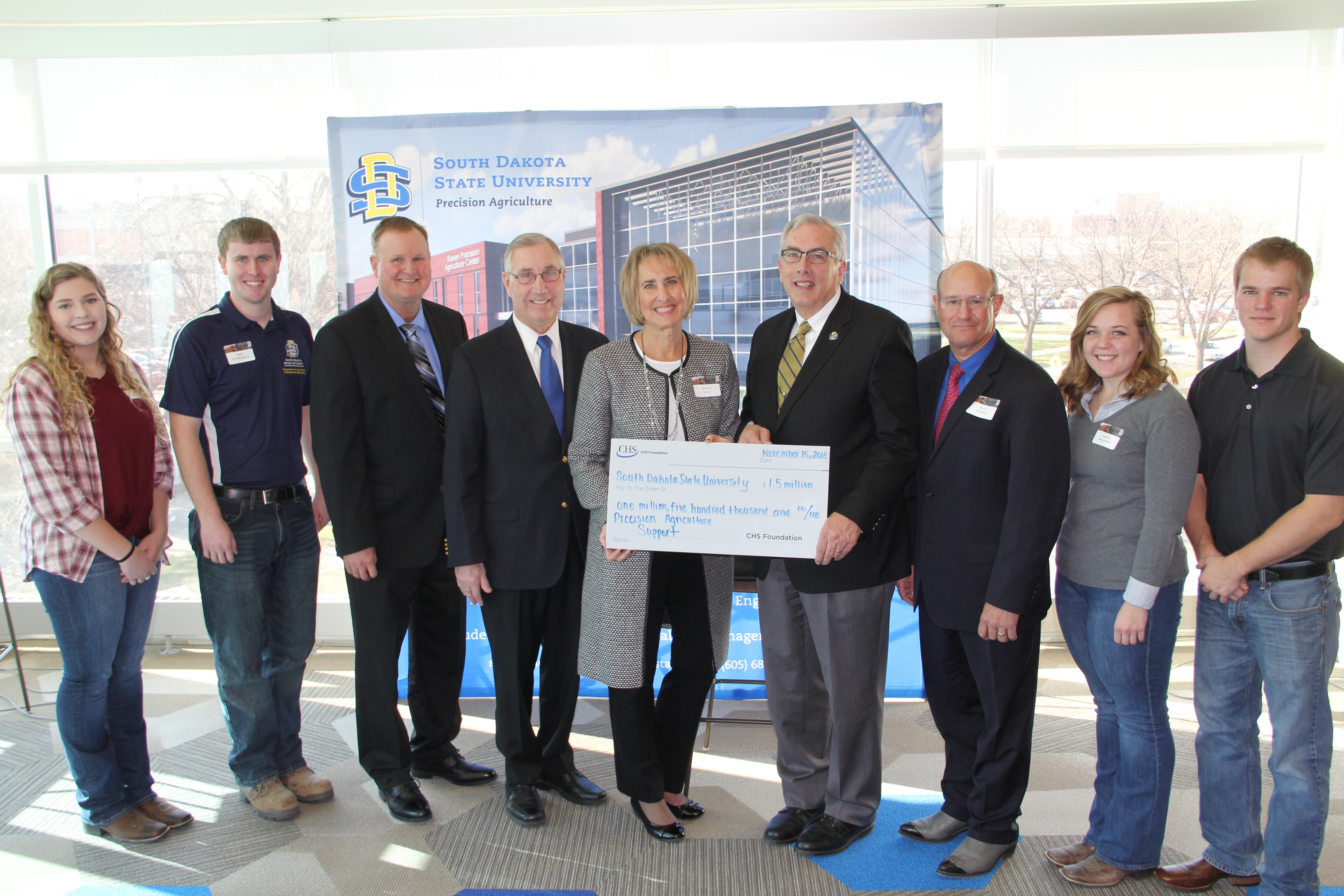CHS Foundation handed check to SDSU leadership and students