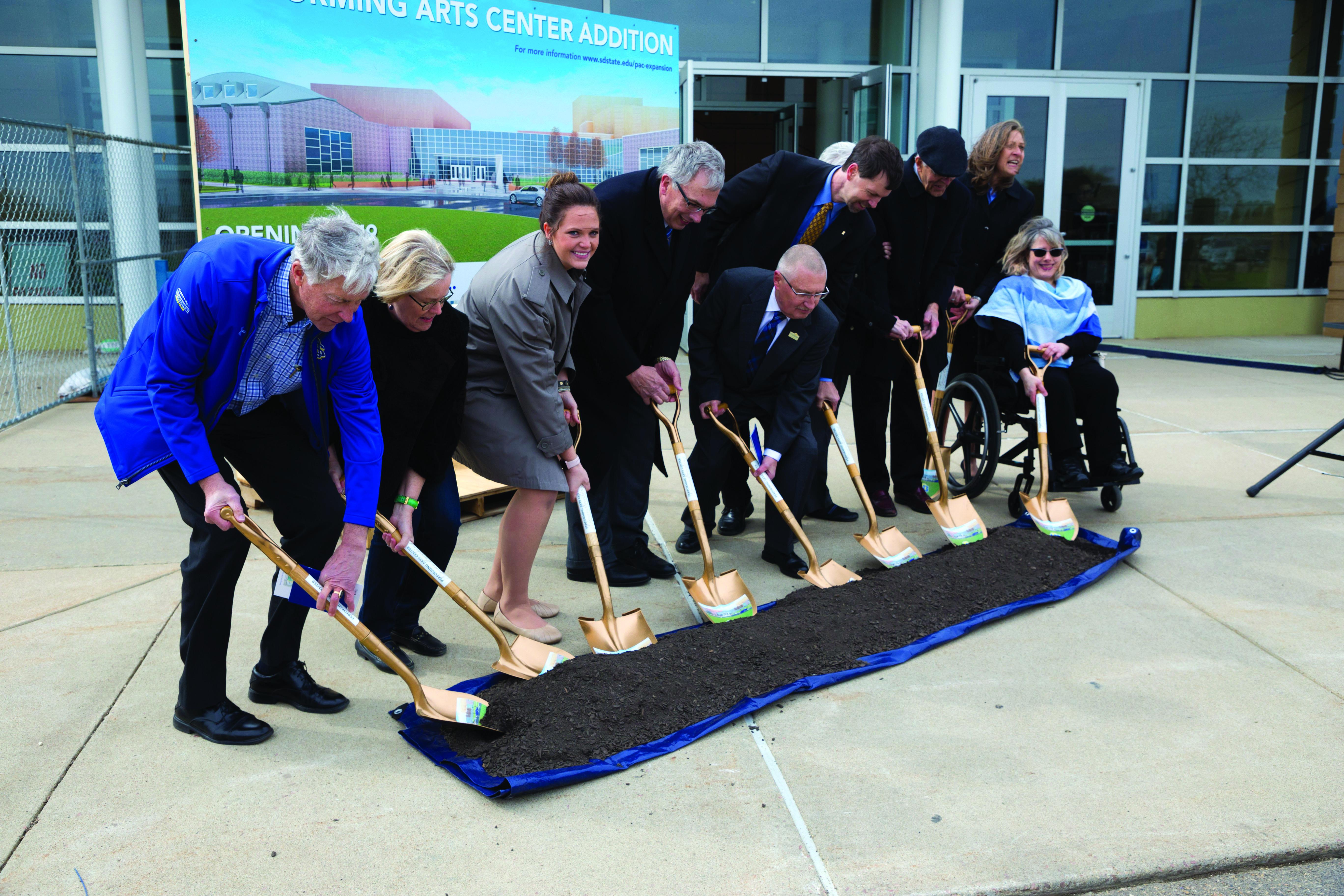 Groundbreaking for the Performing Arts Center expansion