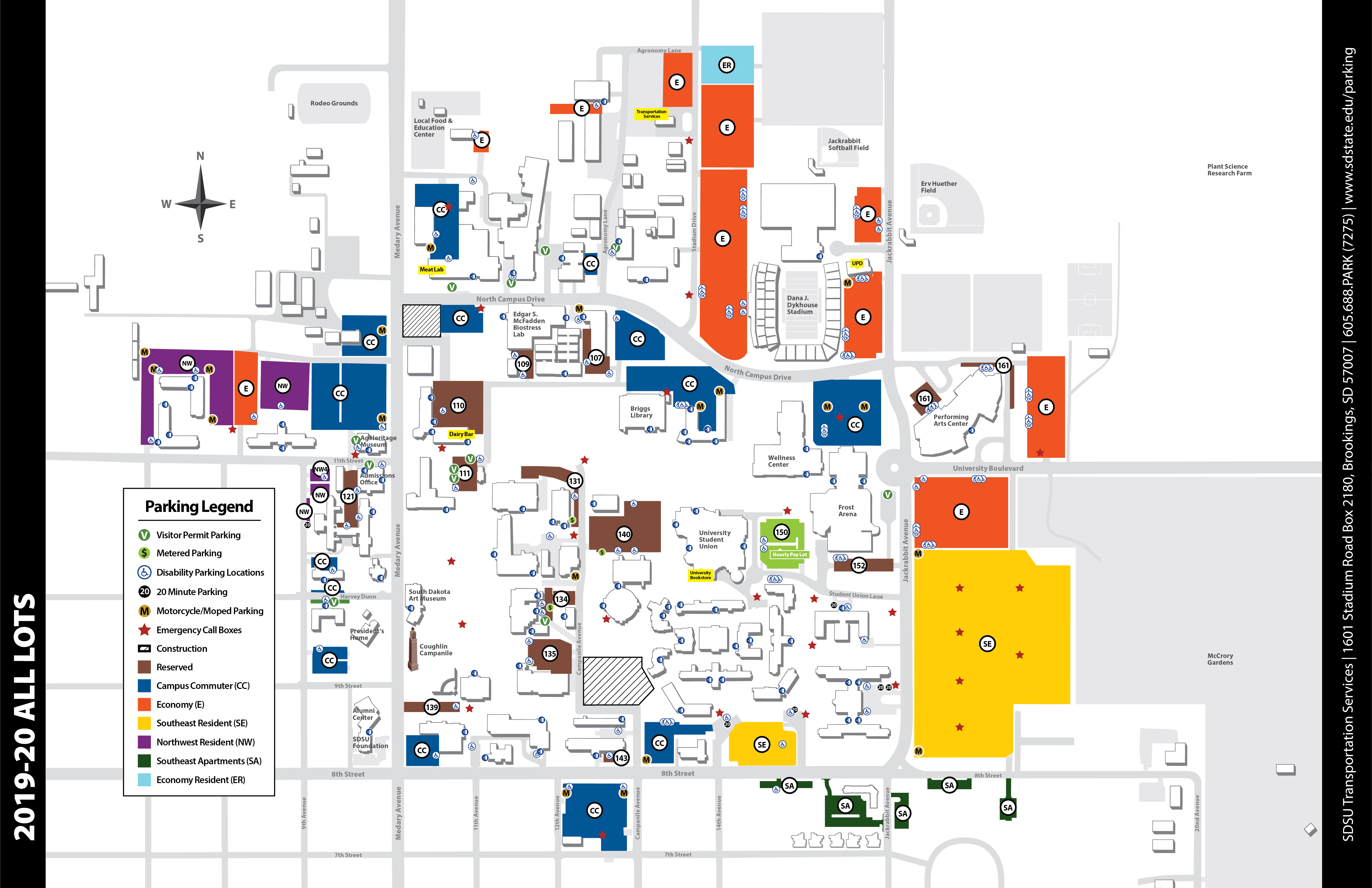 Parking Maps   South Dakota State University