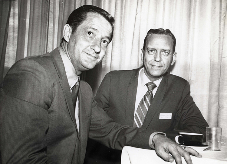 Richard Kneip and Frank Denholm during the 1970 campaign.
