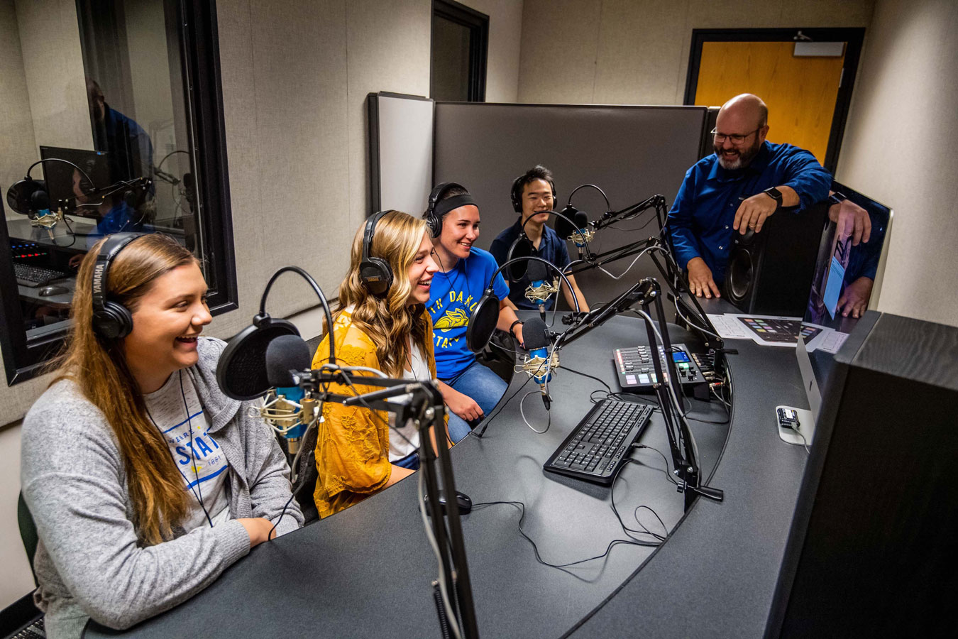 Dr. Dailey with students in COJO studio