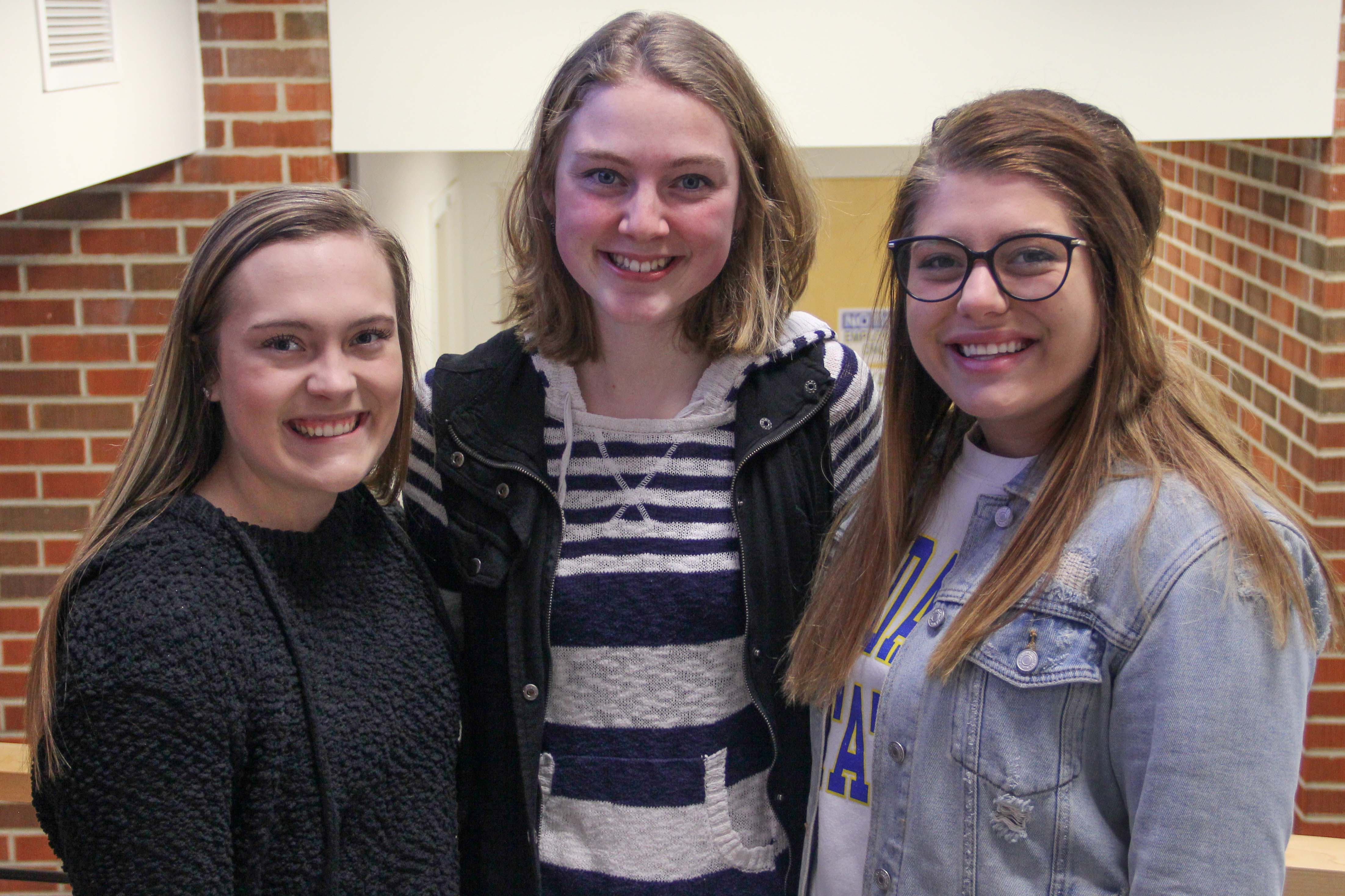 Three students who were recipients of national dairy scholarships
