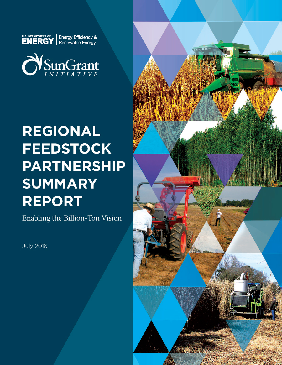 Cover image of the Regional Feedstock Annual Report