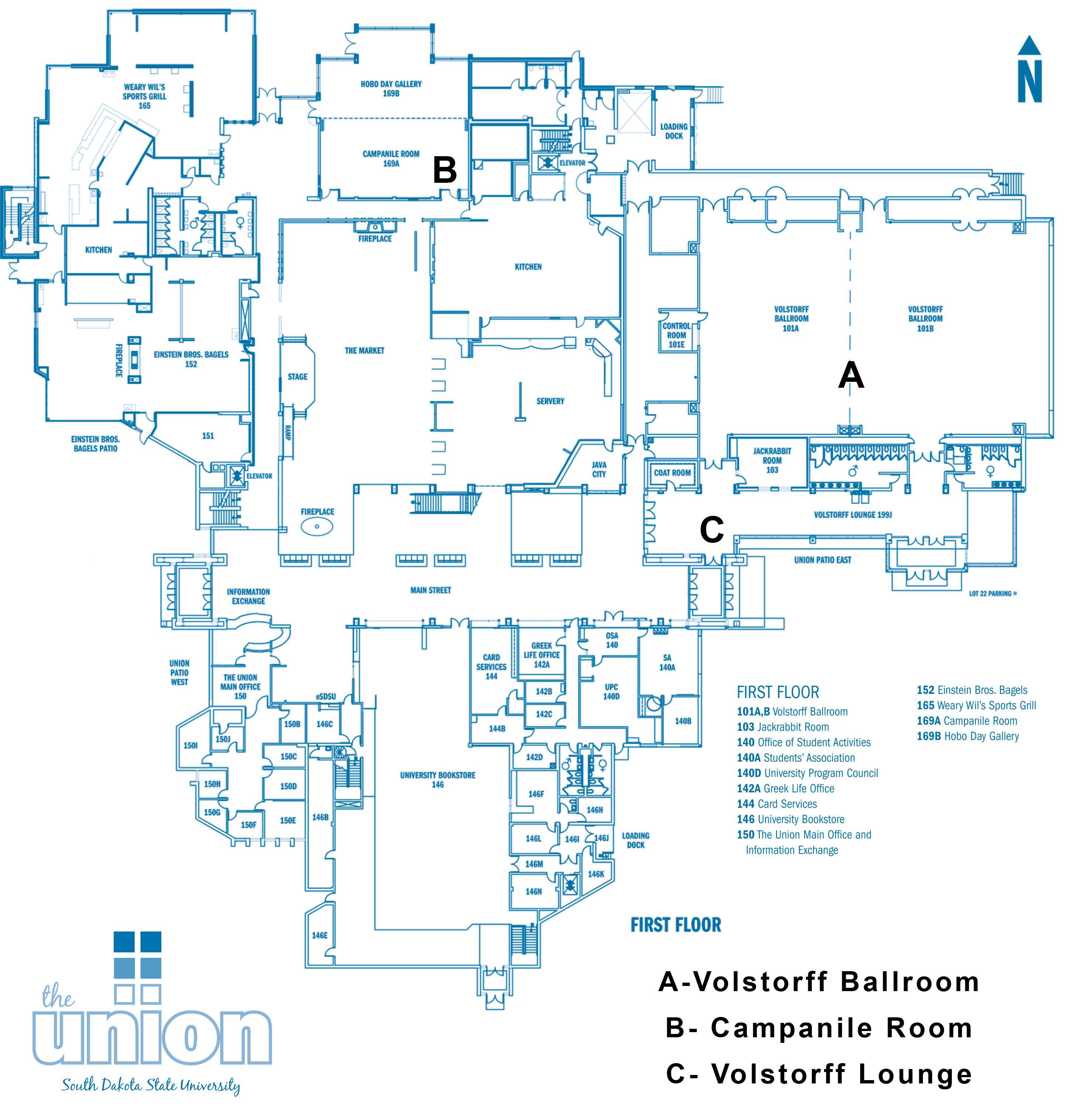 Map of SDSU University Student Union