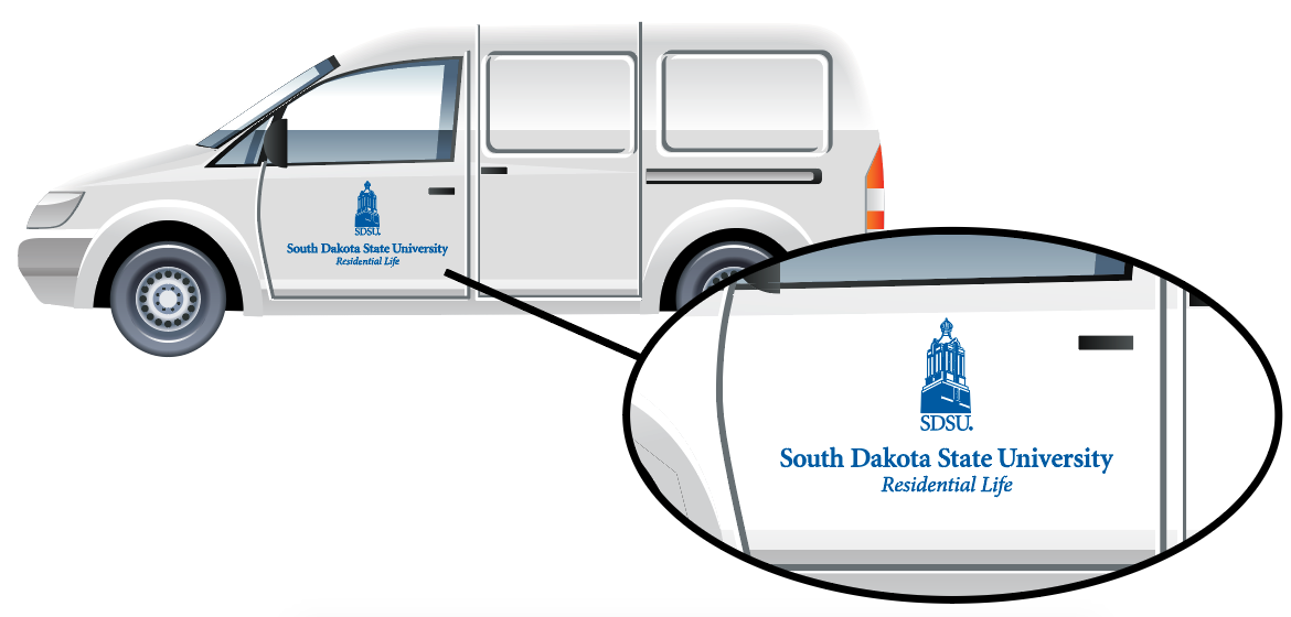 South Dakota State University Vehicle signage