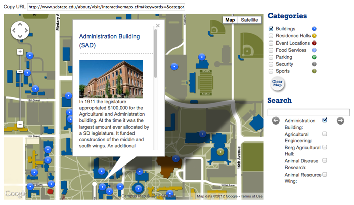Interactive Map - Administration Building