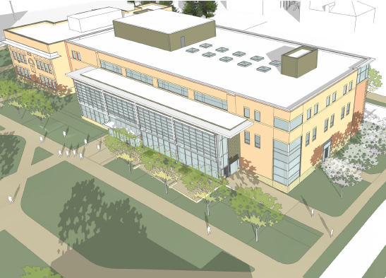 Rendering of the finished Architecture, Engineering and Mathematics building