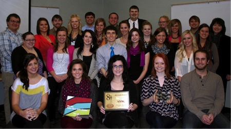 Advertising students were awarded second place overall at the District 8 National Student Advertising Competition.