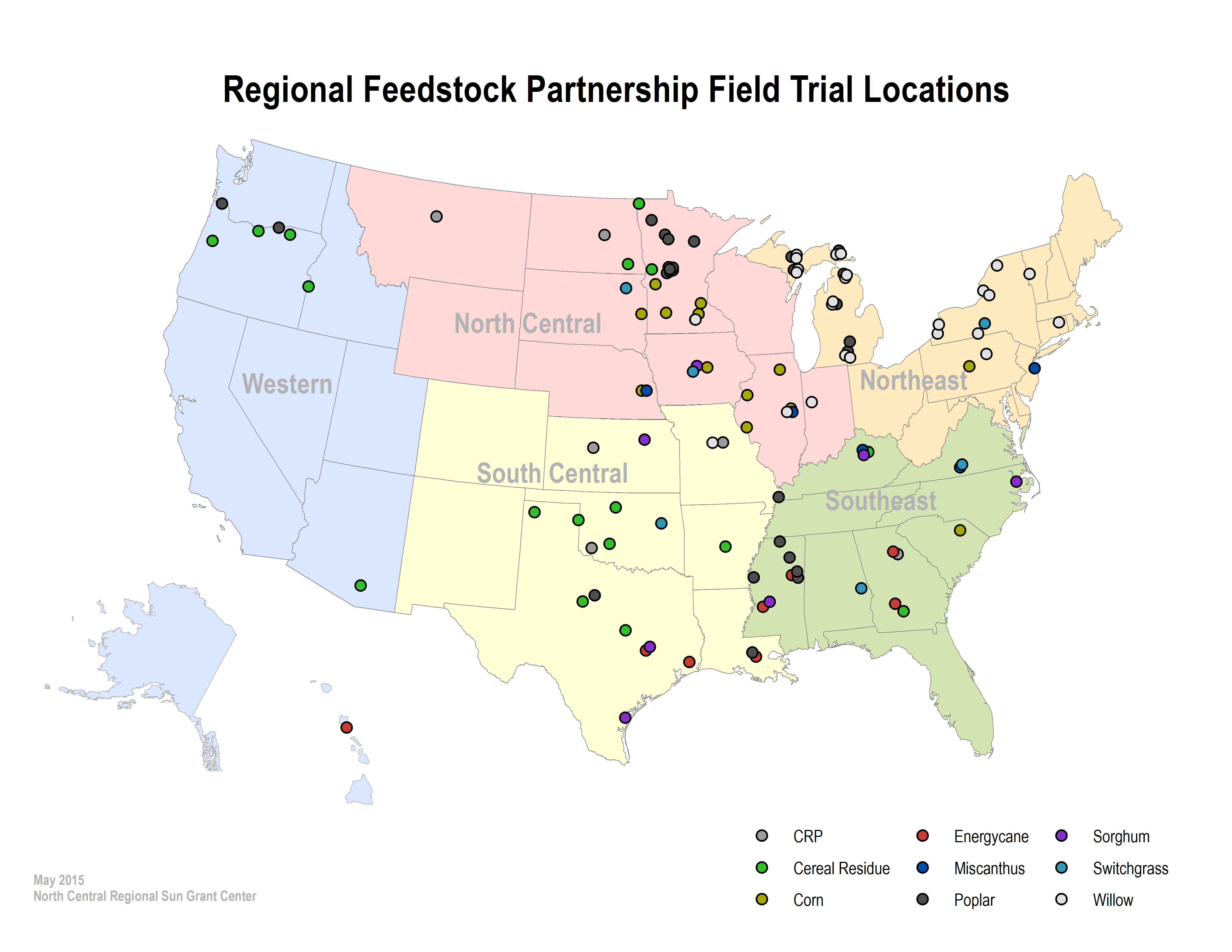 RFP Locations map
