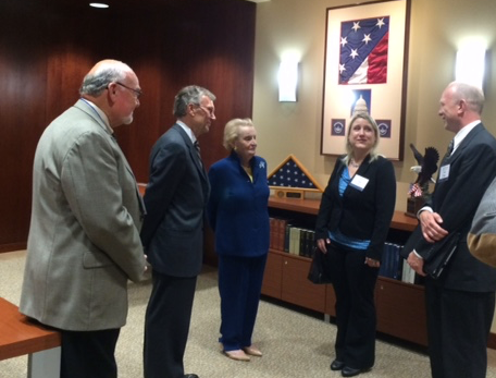 Dr. Burns, Tom Daschle and Madeline Albright visting in the Daschle Study