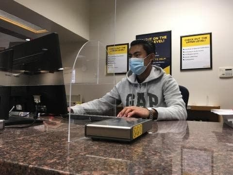 The SDHC CARES Act Grant supported the hires of student assistants, like civil engineering senior Rohit Mali, to aid in the fluid operations of the library after the building reopened.