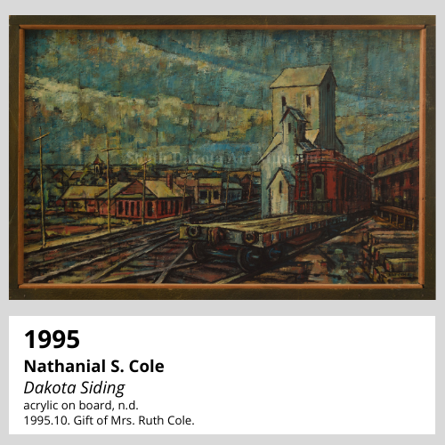 Nathanial S. Cole Dakota Siding acrylic on board, n.d. South Dakota Art Museum Collection, 1995.10. Gift of Mrs. Ruth Cole.
