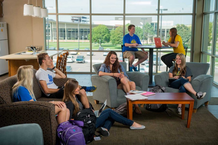 Group of students in common area
