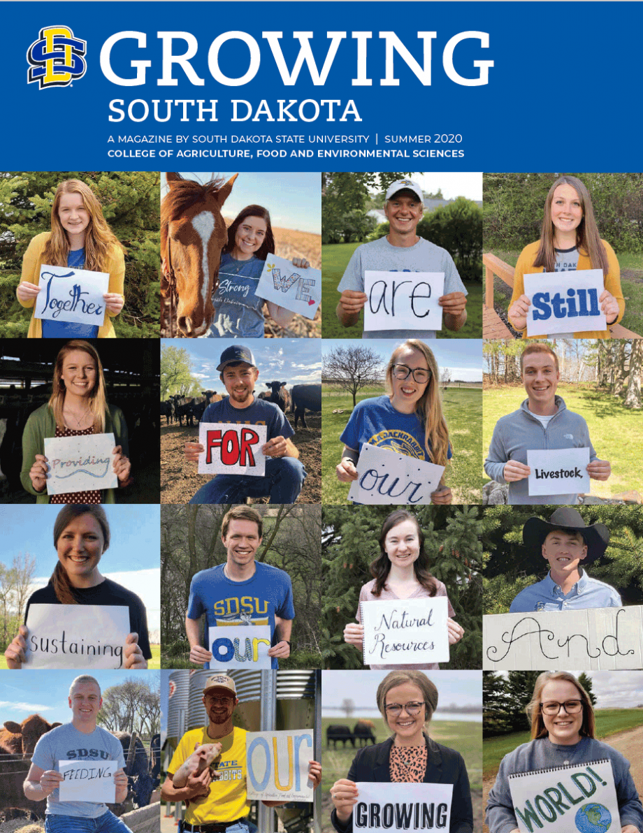 Cover of Summer 2020 issue of Growing South Dakota magazine