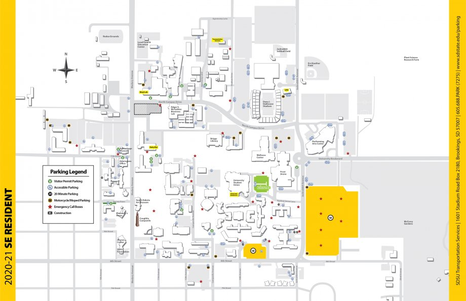 SE Resident parking map