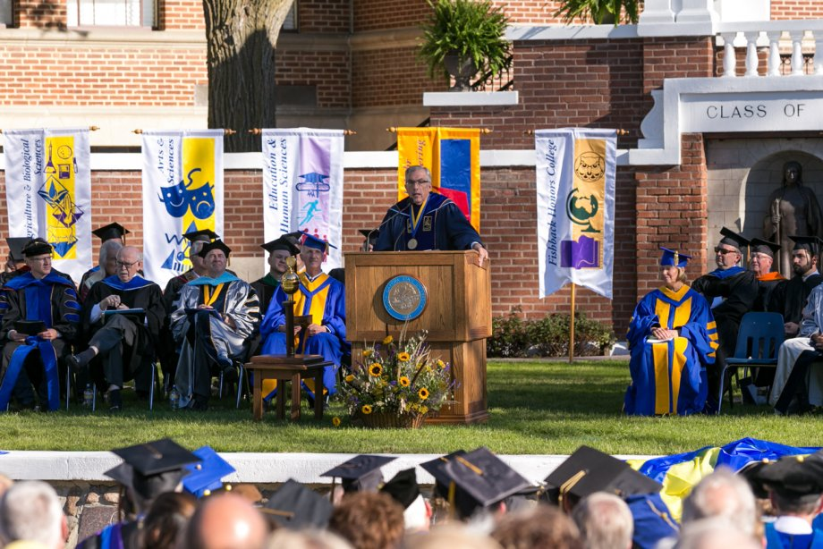 Barry H. Dunn delivers his inaugural address