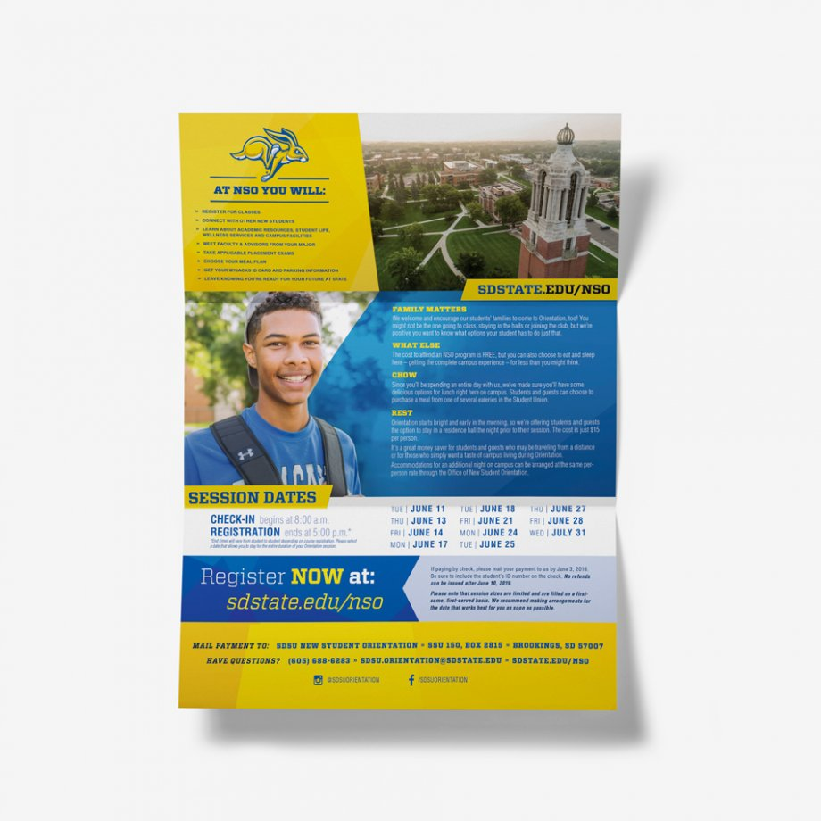 New Student Orientation Brochure