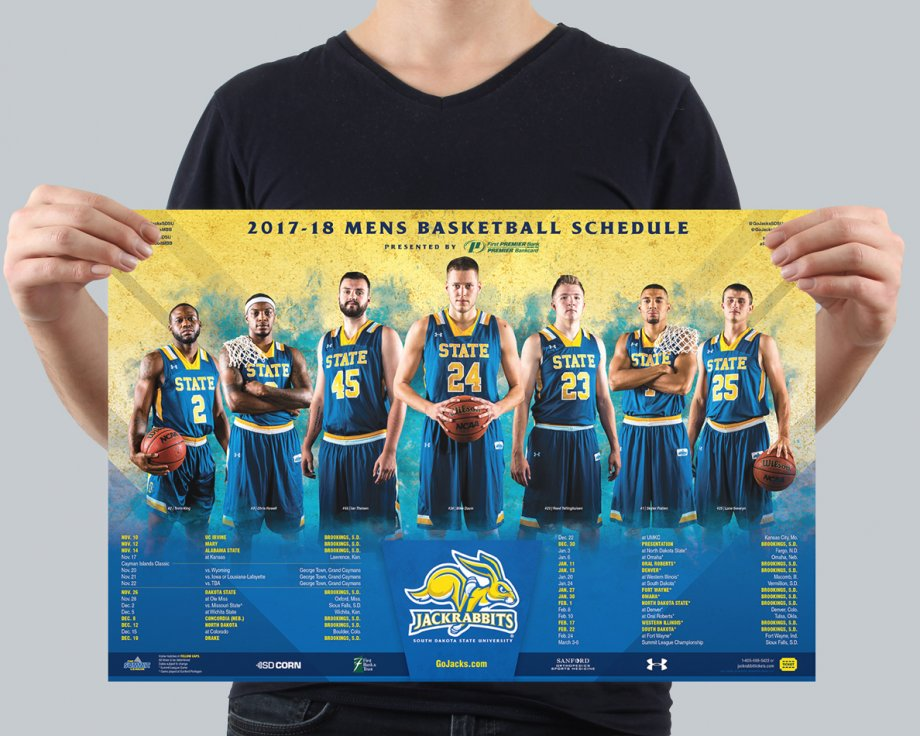 Men's Basketball Athletic Poster