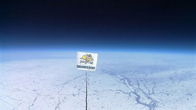 view from high-altitude balloon
