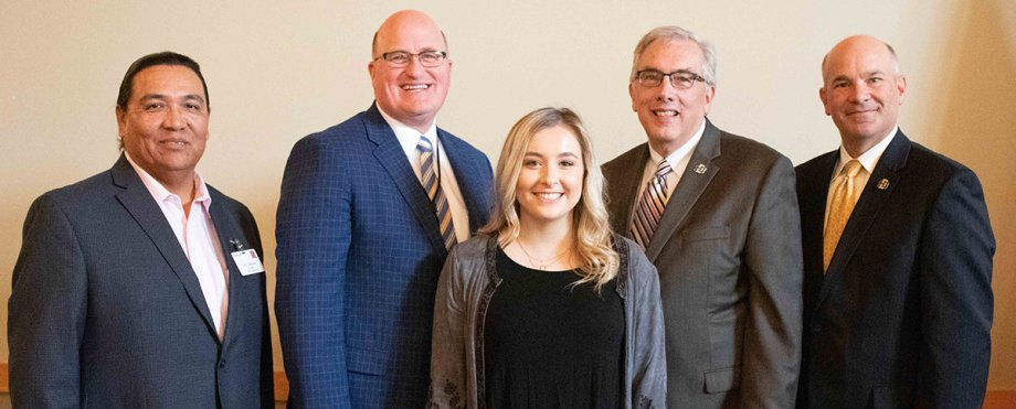 Morgan Ducheneaux receives the first Avera Wokini Scholarship